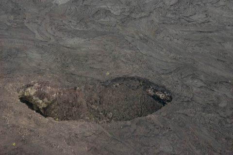 Caldera from air, Big Island