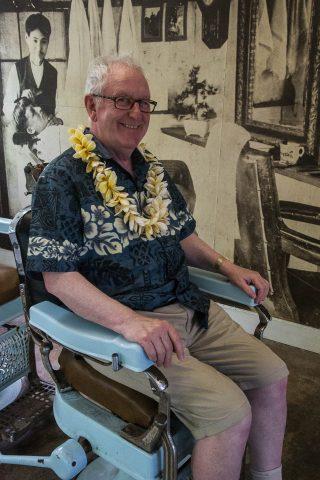 John in dentist chair, Koloa, Kauai