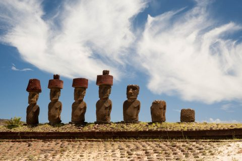 Ahu Nau Nau, Easter island
