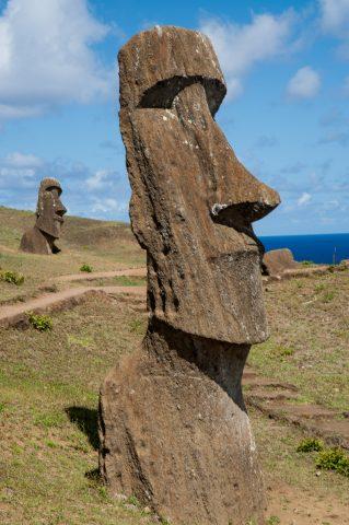 Rano Raraku quarry, Easter island - abandoned head