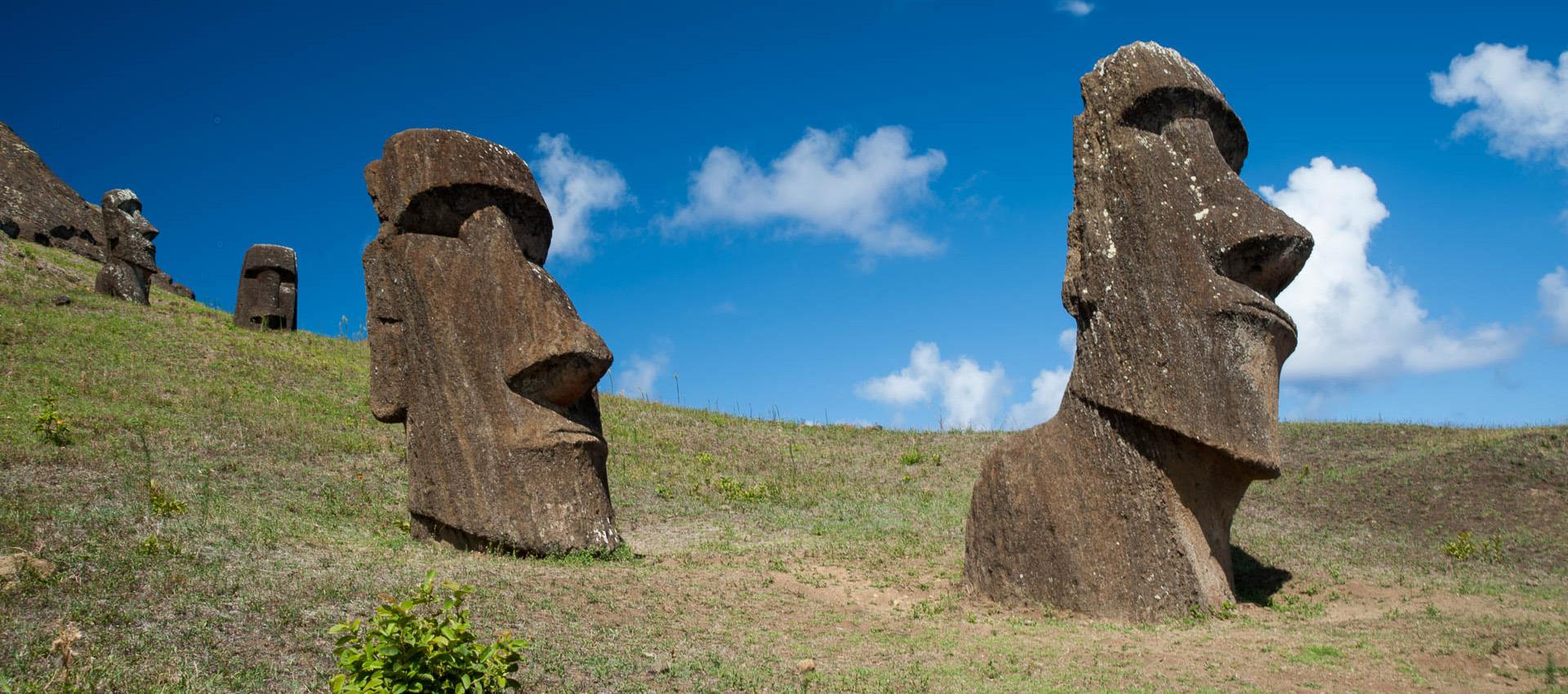 Rano Raraku quarry, Easter island - abandoned heads
