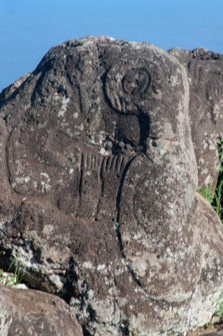 Orongo village, Easter Island