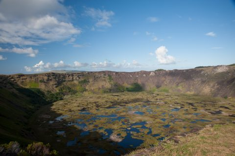 Crater of Rano Kau, Easter Island