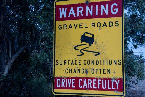 Road sign, Kangaroo Island