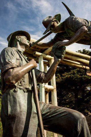 The Diggers sculpture, Great Ocean Road