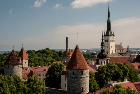 View from City Walls, Tallinn