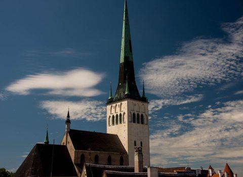 Olevista Church from roof of Fat Margaret Tower, Tallinn