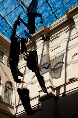 Venice Gondola in Art Gallery, Riga