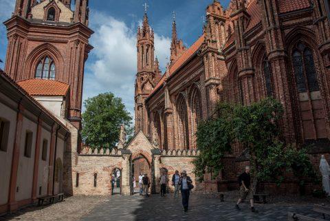 Courtyard St Anne's Church and Bernardine Church, Vilnius