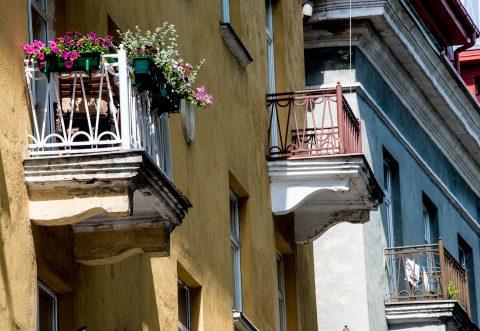 Typical balconies, Vilnius