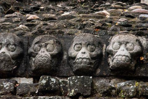 Skulls, 18th Ruler, Copan