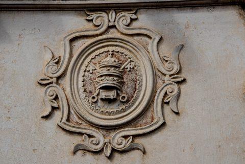 Papal crest , Univeristy, Antigua