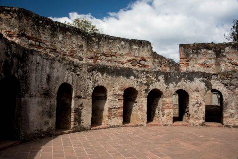 Las Capuchinas nun's cells in rotunda, Antigua