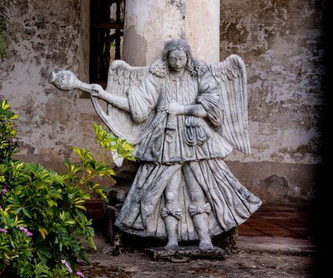 Angel with incense, Las Capuchinas, ANtigua