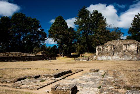 Plaza A & Temple 2, Iximche