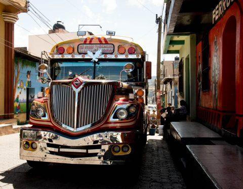 Bus, Santiago Atitlan