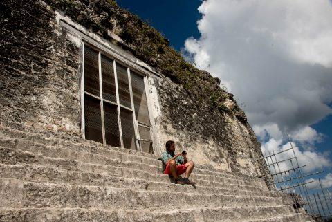Top section, Temple IV, Tikal