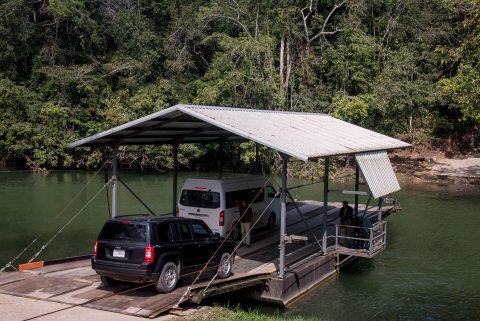 Ferry, Mopan River, Belize