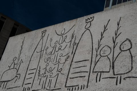 Picasso wall, College of Architects of Catalonia, Barcelona