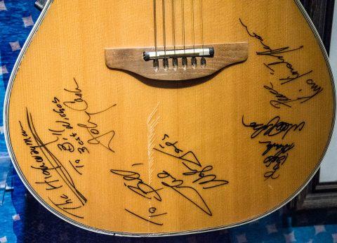 Signed Johnny Cash guitar, Nashville