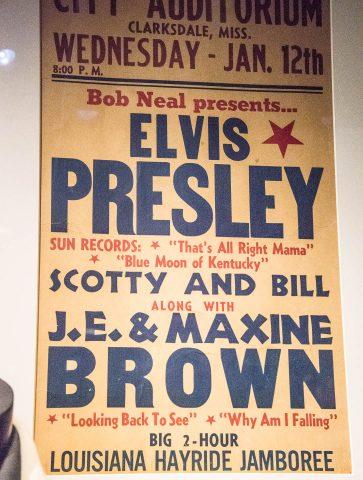 Oldest known poster for Elvis 1955, Nashville