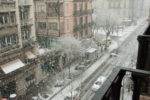 Snow storm, Barcelona