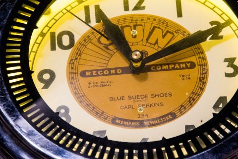 Blue Suede Shoes clock, Sun Studio, Memphis