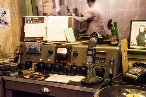 Dewey Phillips broadcast booth  1954, WHBQ Studio, Sun Studio, M