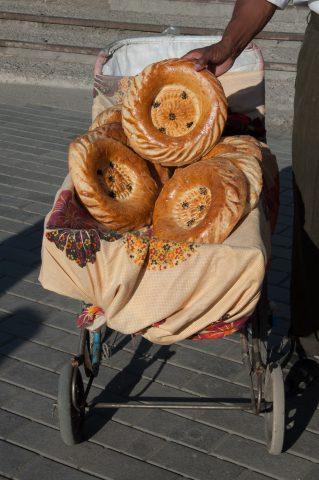 Bread seller, Chorsu Market, Tashkent