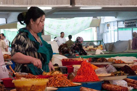 Spice seller, Chorsu Market, Tashkent