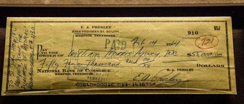 Elvis cheque, Graceland, Memphis
