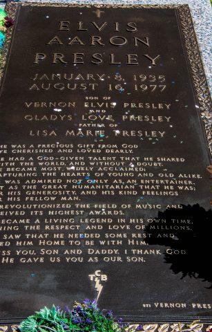 Elvis's grave, Graceland, Memphis