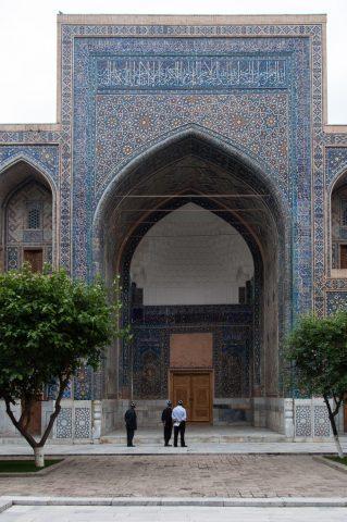 Inner yard, Ulug Beg Madrassah, Samarkand