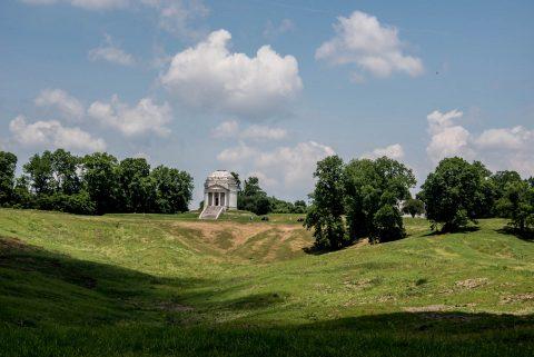 Illinois Memorial from Battery De Golyer, Vicksburg Military Par