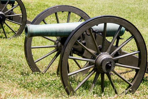 Union guns, Battery De Golyer, VIcksburg Military Park, Miss