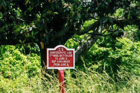 Confederate Battle Line marker, Vicksburg Military Park, Miss