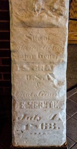 Surrender marker stone, Vicksburg Military Park, Miss