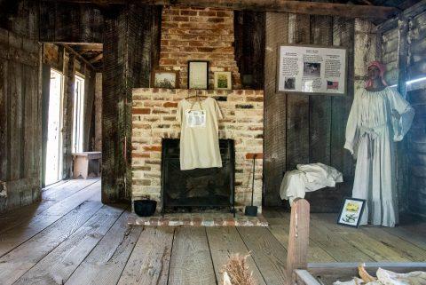 Interior Slave Hut, Frogmore Plantation, Louisiana