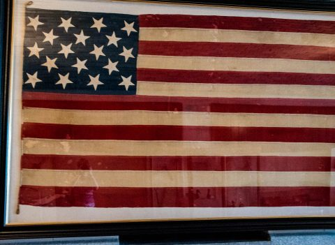 Flag with 18 Stars, State Capitol Building, Baton rouge, Louisia