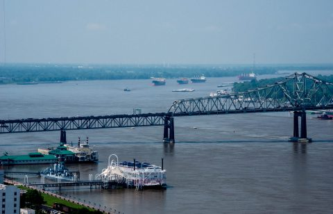 Mississippi from 27th floor of State Capitol Building, Baton Rou