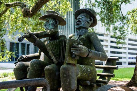 Musicians by Al Lavergne, State Capitol Park, Baton Rouge