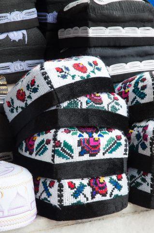 Local hats in market, Samarkand