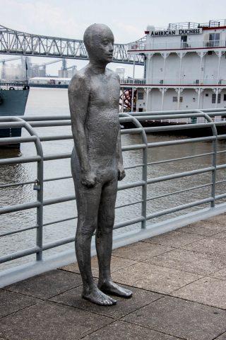 Statue on Levee, Baton Rouge