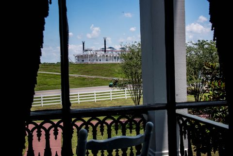 view from living room, Nottway Plantation, Louisiana