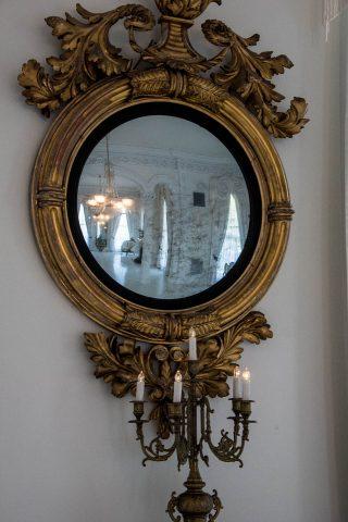 White ballroom reflection, Nottway Plantation, Louisiana