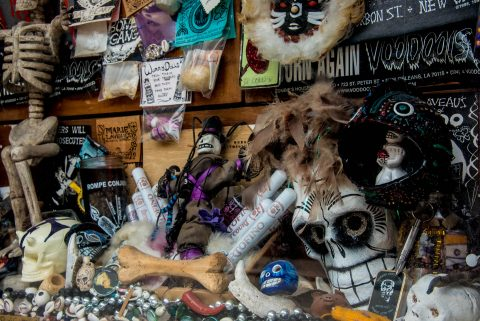Voodoo window display, New Orleans, Louisiana