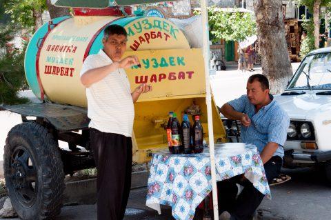 Drinks stall, Shakhrisabz
