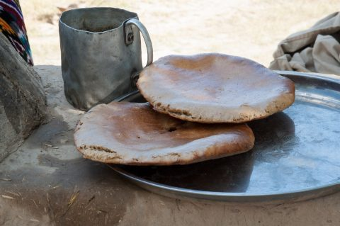 Bread from oven, near Shakhrisabz