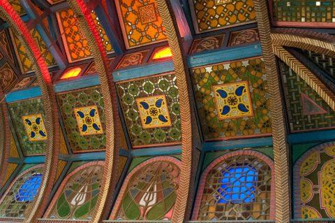 Ceiling inside Sitorai Makhi Khosa, Bukhara