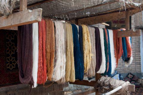 Wool for carpets, Khiva